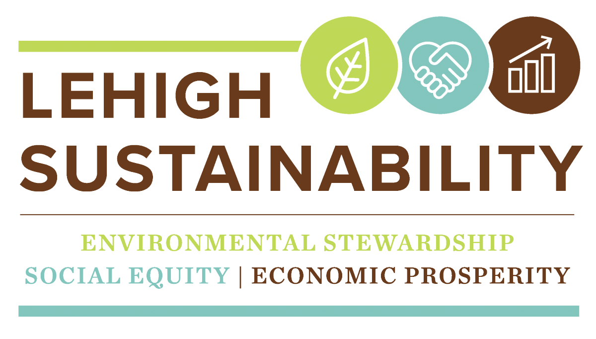 Logo: Lehigh Sustainability: Environmental Stewardship | Social Equity | Economic Prosperity