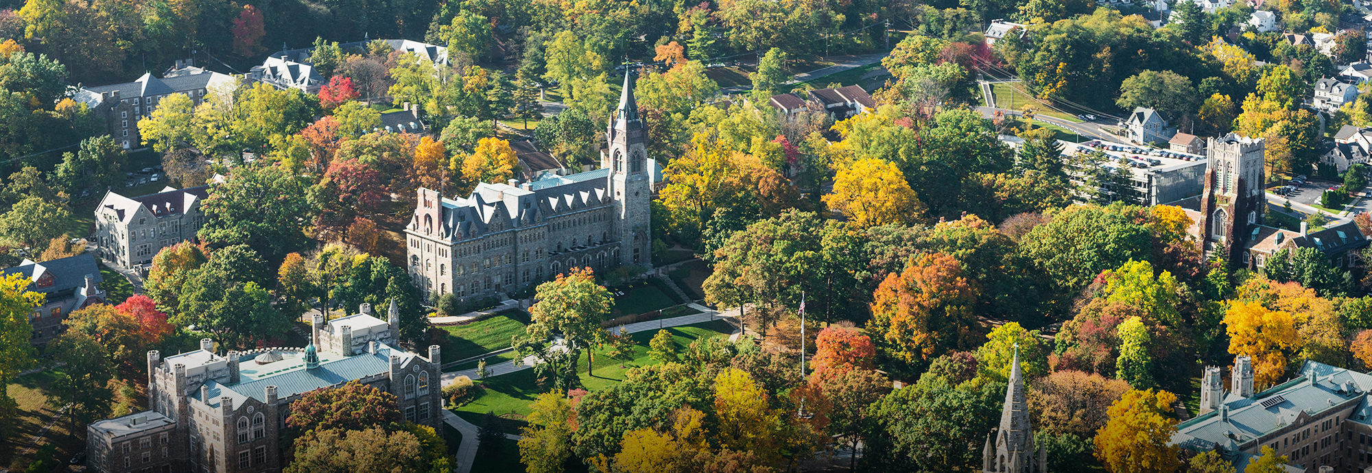 Aerial view of Lehigh campus
