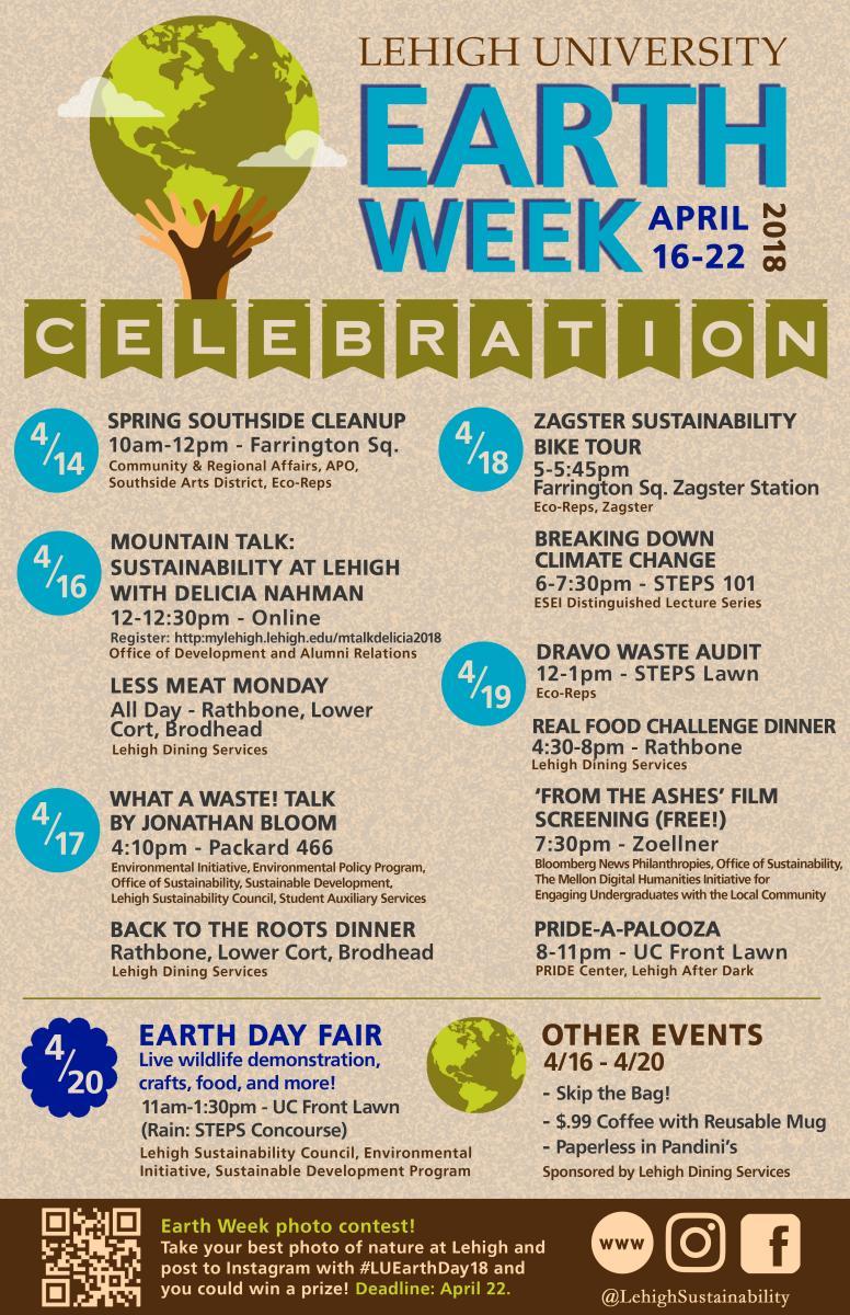 Earth Week 2018   Sustainability